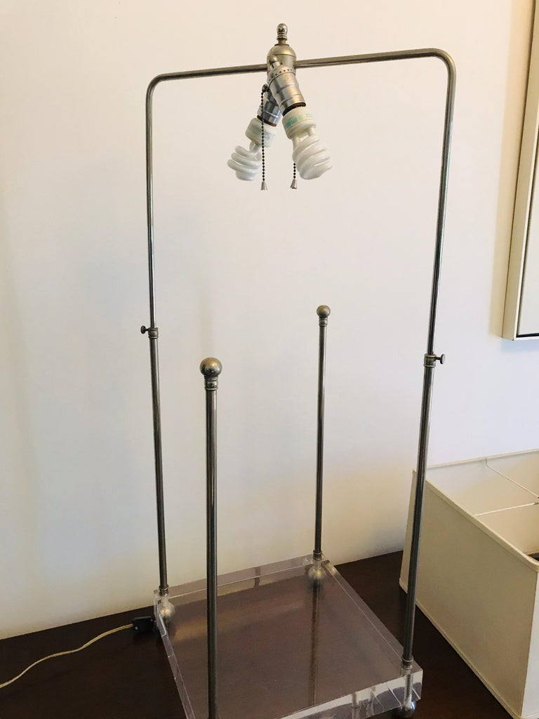 20th Century 'Box-Line' Showcase Lamp, 1980s For Sale