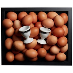 """Box of 2 Egg Cups Model """"Black and White"""""""