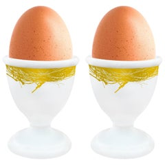 """Box of 2 Egg Cups Model """"Gold"""""""
