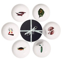 Box of 6 Porcelain Bowls by the French Chef Alain Passard
