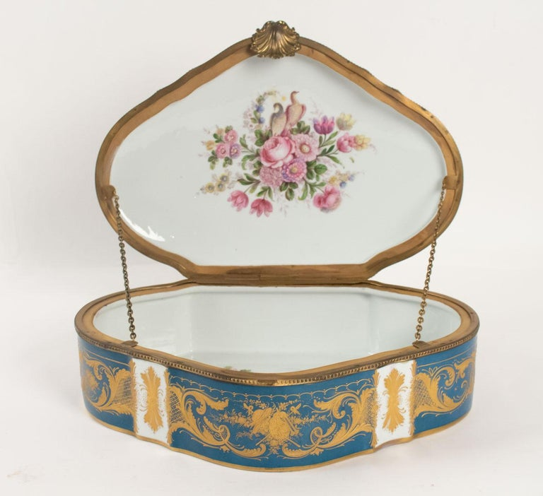 Late 19th Century Box Porcelain, Signed, Decorated Inside and Outside, 19th Century For Sale