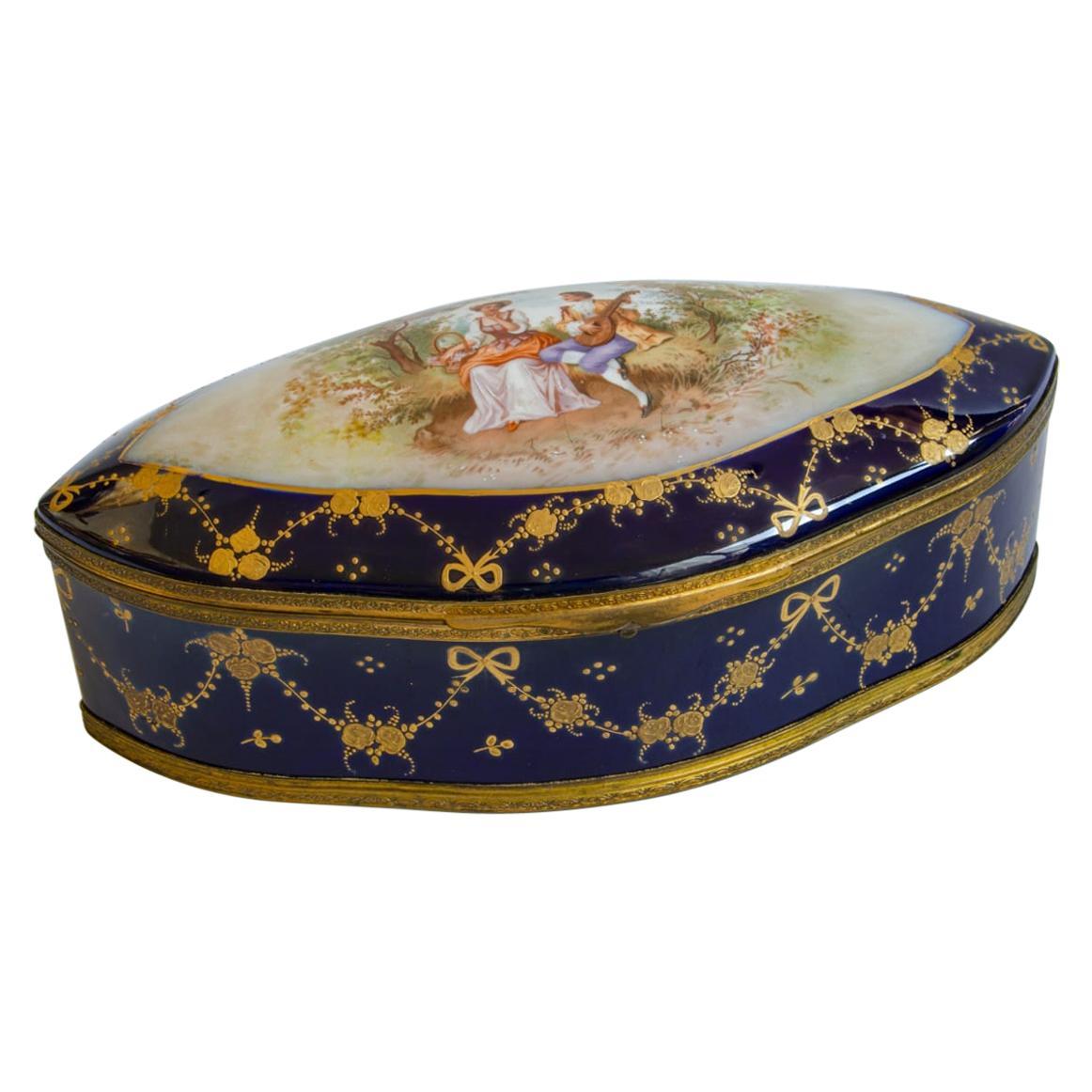 Box Sevres Porcelain Romantic Scene