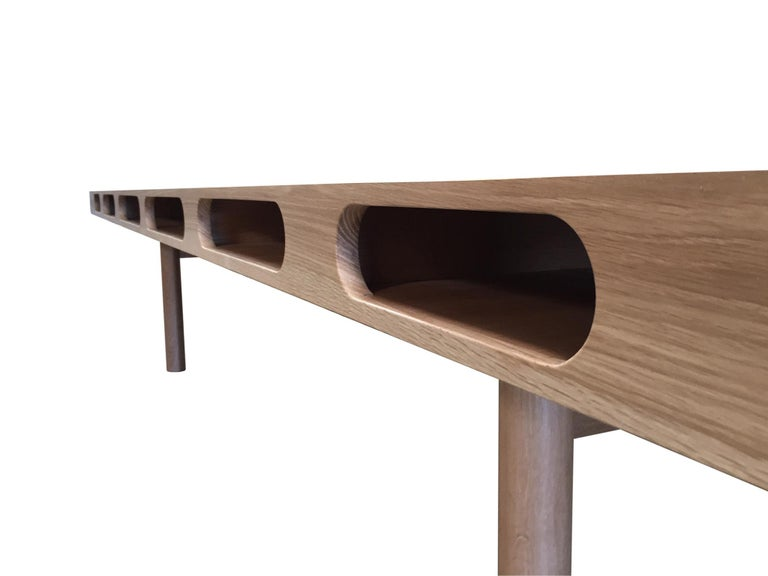 American Box Table in White Oak for Dining or Conference For Sale