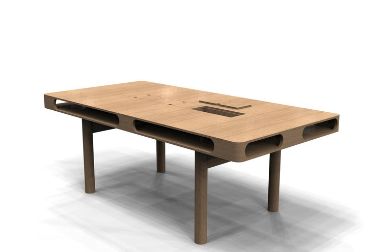 Box Table in White Oak for Dining or Conference For Sale 1