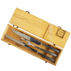 Boxed Amboss 2050 Carving Knives and Fork by Helmut Alder, Austria, 1950s