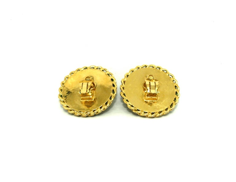 Women's Boxed Large Clip Earrings by Chanel For Sale