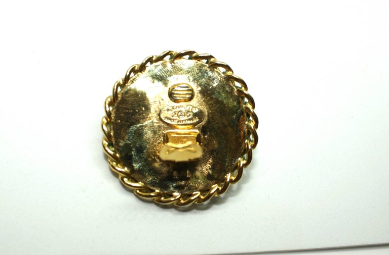 Boxed Large Clip Earrings by Chanel For Sale 1
