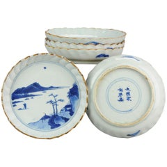 Boxed Set of Chinese 17th Century Porcelain Ming Dynasty Plates Chenghua Marked