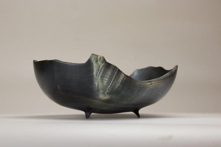 Boxelder burl bowl by Vlad Droz Unique handmade piece signed by Vlad Droz Dimensions: 22 x 9 cm Materials: dyed burl wood  Vlad Droz