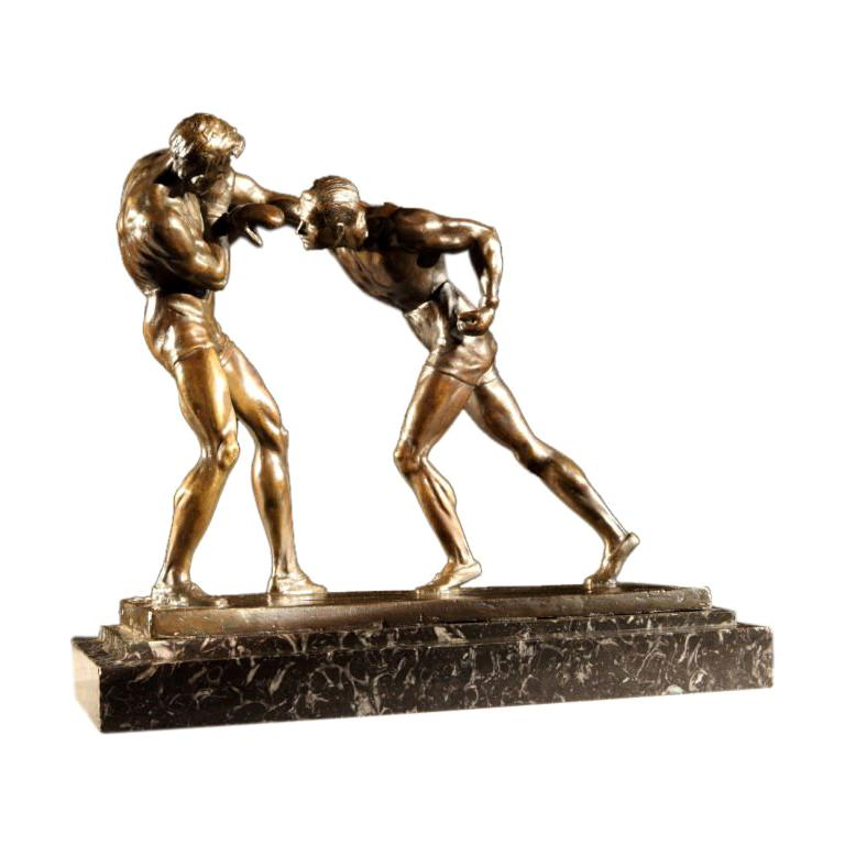 'Boxers' bronze by Marcel-André Bouraine (1886-1948) For Sale