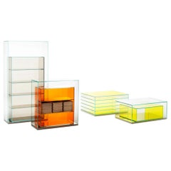 Boxinbox BIB01 Storage Unit in Green Glass, by Philippe Starck for Glas Italia
