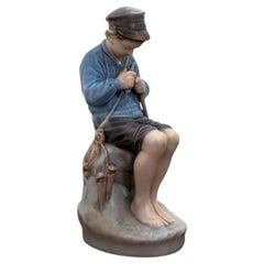 Boy Figurine from Royal Copenhagen, 1990