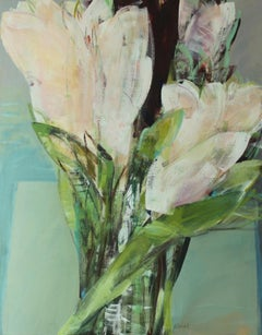 Flower bouquet - XXI century, Oil painting, Abstract-figurative, Flowers, Floral