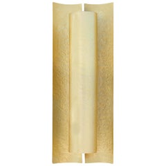 Aurum Sconce in Matte Hammered Brass