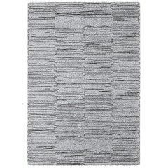 Brabbu Bemba Handgetufteter Gefärbter Wolle Teppich in Grau und Schwarz