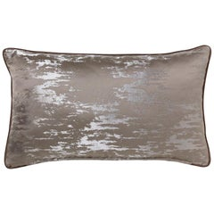 Bismuth Pillow in Gray Satin