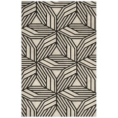Cauca Hand-Tufted Tencel Rug in Black and White