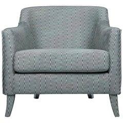 Brabbu Como Rare Armchair in Green Cotton Velvet with Patterned