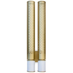 Cybo II Sconce in Brass and Carrara Marble