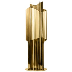 Brabbu Cyrus Table Lamp in Polished Gold-Plated Brass