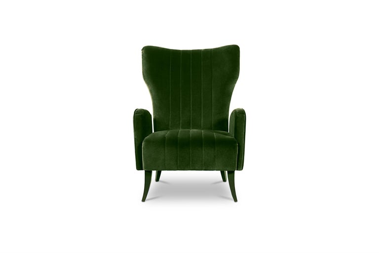 The Davis sea, located along the coast of East Antarctica, inspired our designers to create Davis wingback armchair. This fully upholstered high-back chair will add character and elegance to any modern interior design thanks to its timeless