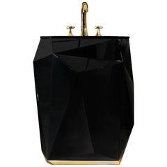 Brabbu Diamond Free Stand in Wood with Black Gloss Finish