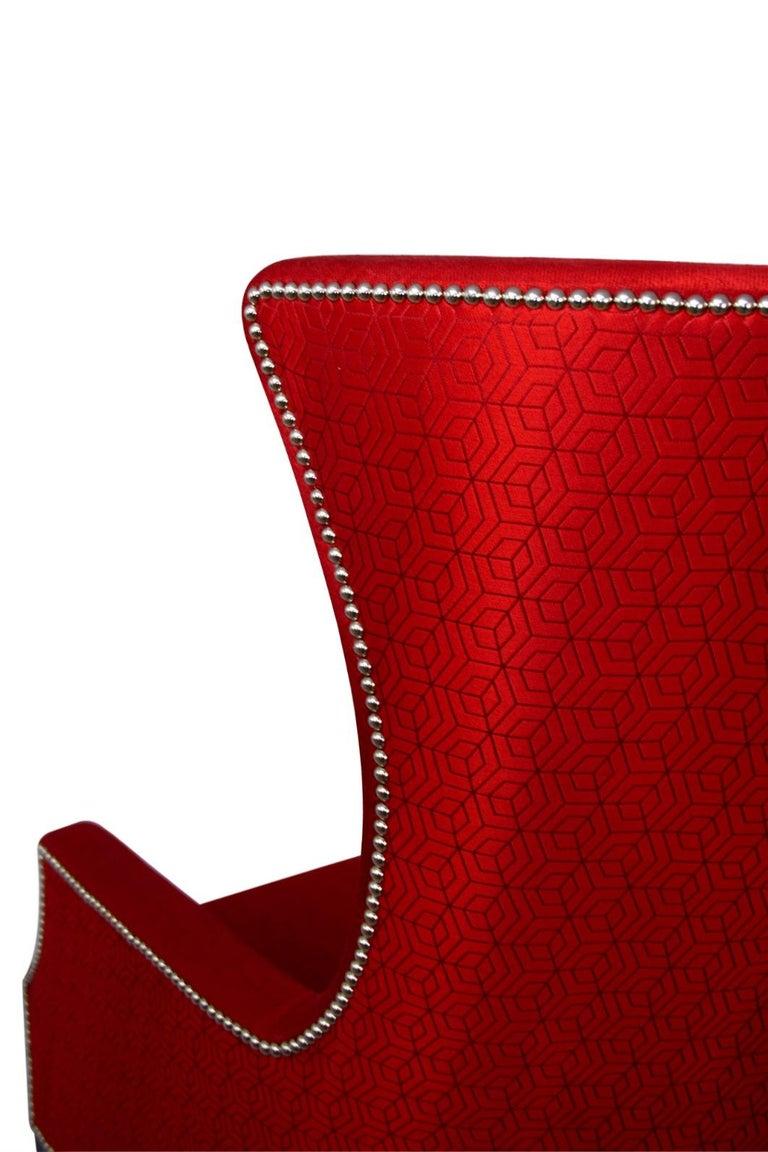 Brabbu Dukono Rare I Armchair In Red Faux Leather For Sale