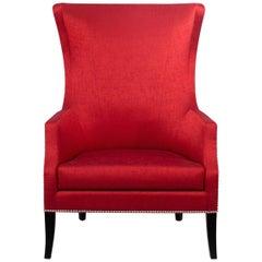 Brabbu Dukono Rare I Armchair in Red Faux Leather