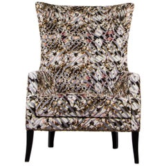 Dukono Rare II Armchair in Velvet with Faux Leather Details
