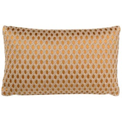 Brabbu Duomo Rectangular Pillow in Copper Colored Twill