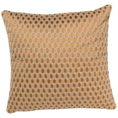 Brabbu Duomo Square Pillow in Copper Colored Twill