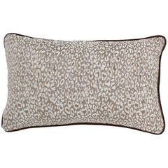 Brabbu Eclectic Pardus Pillow in White Animal Print Twill