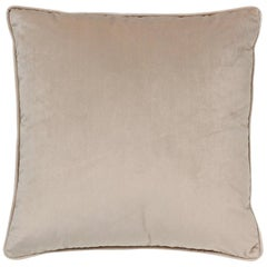 Brabbu Frior Pillow in Beige Velvet