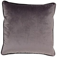 Brabbu Henna Pillow in Gray Velvet