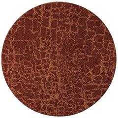 Brabbu Himba Kreisförmiger Handgetufteter Tencel Teppich II in Rot Gelb