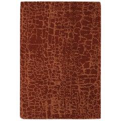 Brabbu Himba Handgeknüpfter Gefärbter Wolle Teppich in Rot Gelb