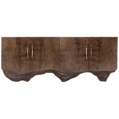 Huang Sideboard with Walnut Root Veneer and Brushed Brass Detail