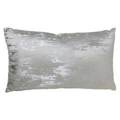 Brabbu Ijsberg Pillow in Silver Satin