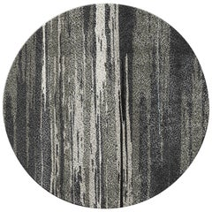 Inuk Circular Hand-Tufted Tencel Rug II in Brown & Black Gradient