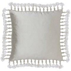 2 Brabbu Karistal Pillow in Ivory Cotton-Linen Blend