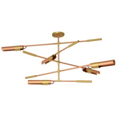 Brabbu Koben Chandelier in Brushed Copper and Brass