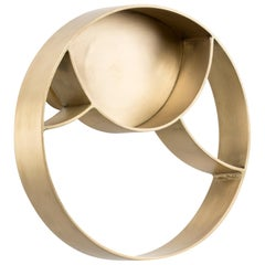 Brabbu Koi Towel Ring in Aged Brushed Brass