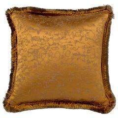 Brabbu Marmur Pillow in Gold Satin with Tassles