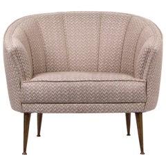 Brabbu Maya Rare I Armchair in Linen with Matte Brass Details
