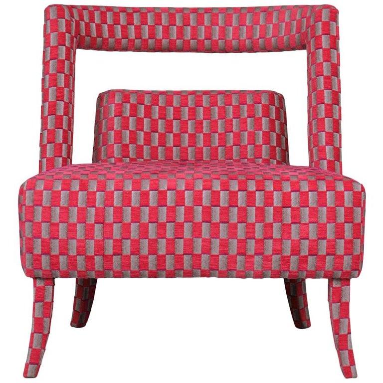 Brabbu Naj Rare II Armchair in Velvet with Nickel Details For Sale