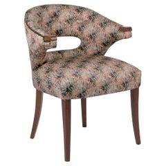 Brabbu Nanook Rare I Dining Chair in Multicolored Satin