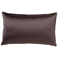 Brabbu Onyx Pillow in Purple Satin