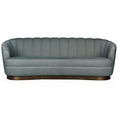 Brabbu Pearl Rare Sofa in Cotton with Matte Brass Details