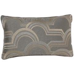 Brabbu Rectangular Arco A Volta Pillow in Gray Satin