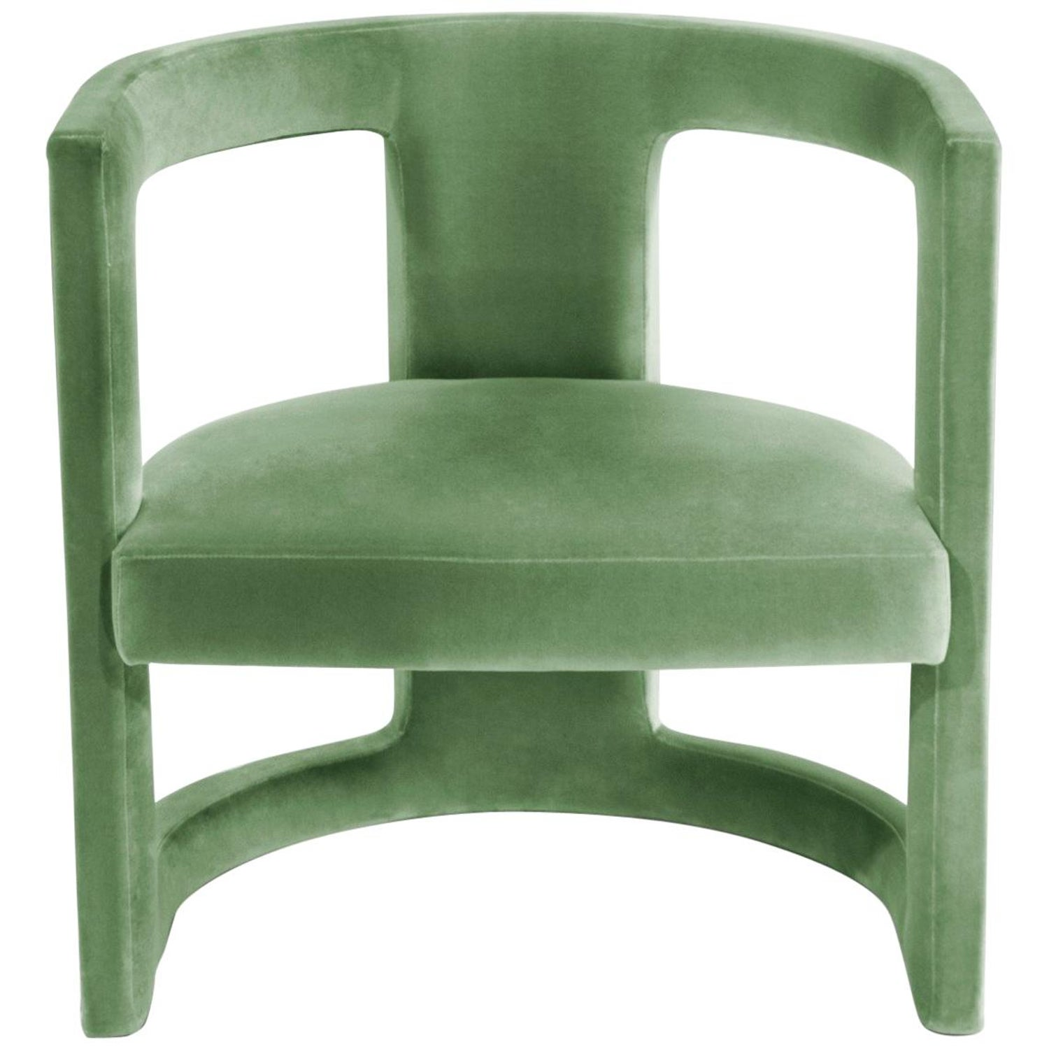 Brabbu rukay bold armchair in green cotton velvet for sale at 1stdibs